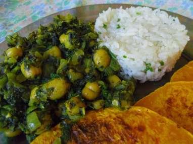Curry vegan de pois chiches et d'épinards