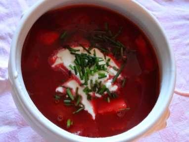 Bortsch soupe russe aux betteraves