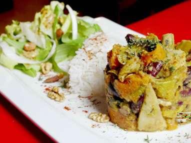 Cari légumes curcuma coco