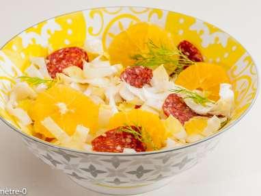 Salade d'endives aux oranges et chorizo
