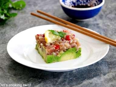 Tartare de thon sauce soja et gingembre