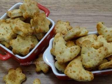 Crackers au parmesan et origan