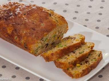 Cake au thon, maïs et petits pois