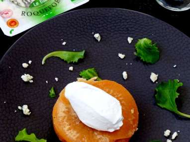 Tatin aux navets, chantilly de roquefort
