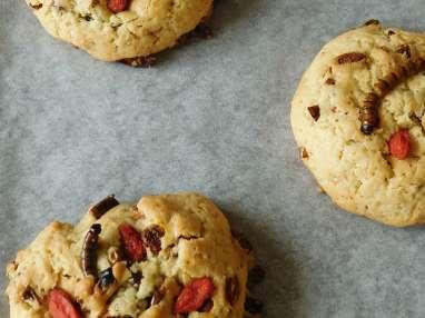 Cookies aux vers morio et baies de Goji