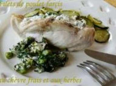 Filets de Poulet Farcis au Chèvre Frais et aux Herbes