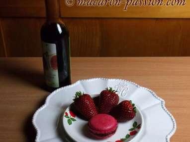 Macarons fraise balsamique