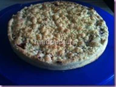 Tarte crumble aux fruits rouge