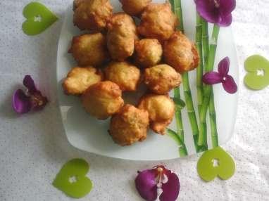 Beignets au pommes de terres et au poulets