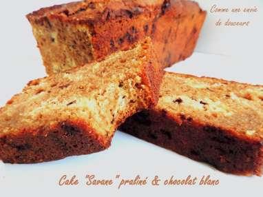 "Cake façon ""Savane"" praliné et chocolat blanc"