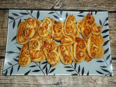 Roulés feuilletés poulet parmesan
