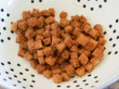 Réaliser des croûtons frits