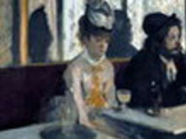 """Tableau de Degas """"l'absinthe"""" de 1875"""
