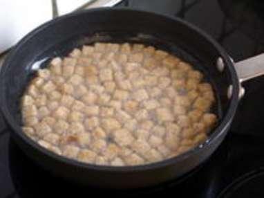 Croûtons frits - Etape 5