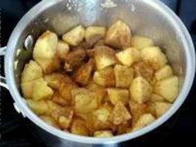 Crumble pommes myrtilles - Etape 2