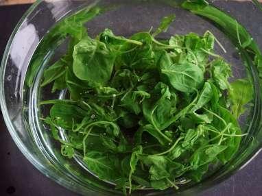 Jus vert épinards roquette et basilic - Etape 3
