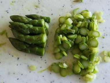 Tagliatelles aux pointes d'asperges - Etape 3