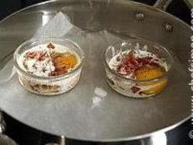 Oeufs cocotte, bacon, ciboulette - Etape 10