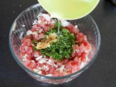 Tartare de thon aux saveurs asiatiques - Etape 8