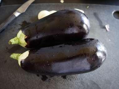 Aubergines gratinées - Etape 1