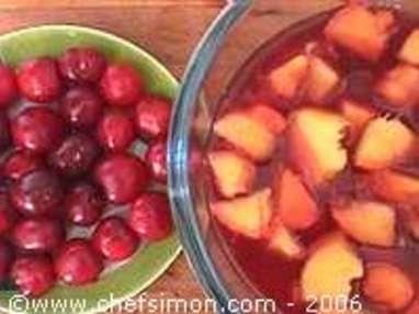 Pêches au vin rouge épicé - Etape 7