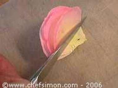 Pétales de rose cristallisés - Etape 3