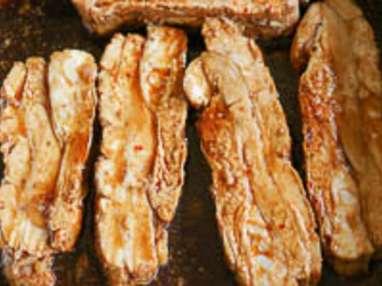 Tendrons de veau laqués à la plancha - Etape 11