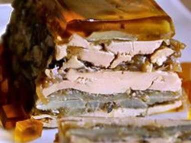 Terrine de foie gras aux artichauts