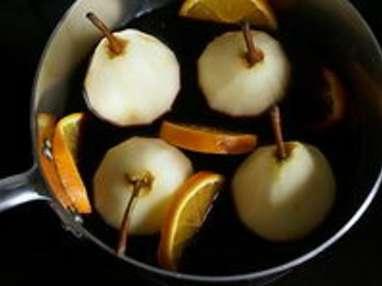 Poires pochées au vin rouge - Etape 6