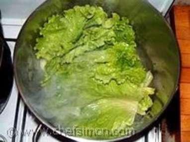 Potage aux topinambours et salade de saison - Etape 2