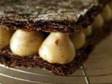 Millefeuille craquant chocolat praliné