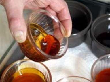 Chemiser un moule au caramel - Etape 5