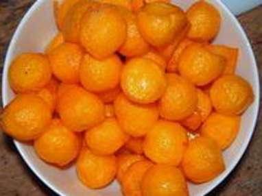 Pommes noisettes au safran