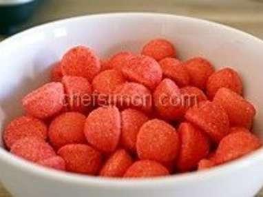 Glace aux fraises tagada - Etape 1
