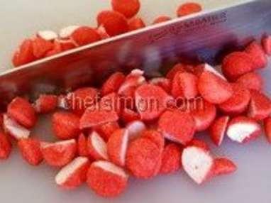Glace aux fraises tagada - Etape 2