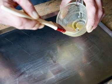 Salade de bar tiède à l'huile de noisette - Etape 2