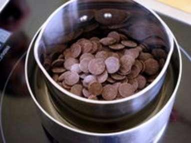 Tabler le chocolat au marbre - Etape 1