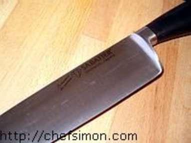 Couteaux de cuisine - Etape 5