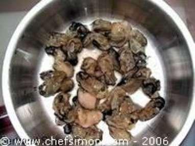 Huitres juste pochées au cresson et caviar - Etape 5
