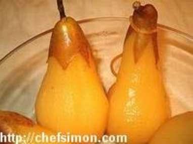 Poires pochées au Sauterne