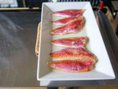 Filets de rougets à la plancha - Etape 1