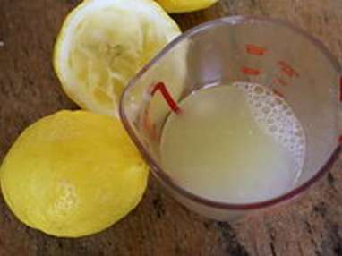 Sorbet citron basilic - Etape 2