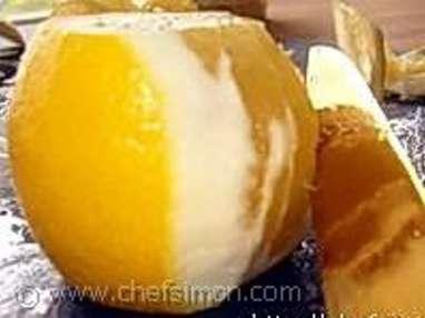 Lever des suprêmes de citron - Etape 1