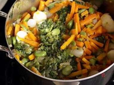 Jardinière de légumes : l'assemblage de la jardinière - Etape 9