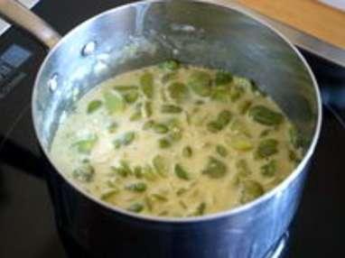 Noix de saint Jacques sur crème de fèves - Etape 2