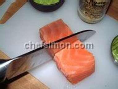 Désarêter un filet de saumon - Etape 8