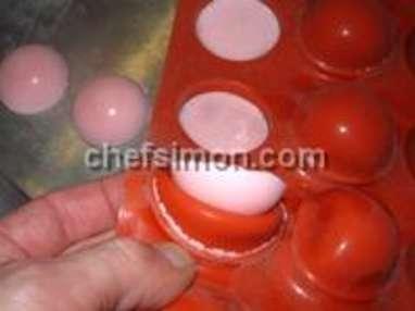 Sucettes de mousse gélifiée - Etape 2