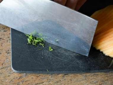 Carpaccio de melon à la menthe - Etape 2