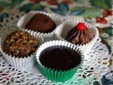 La ganache à truffes au chocolat en trois états