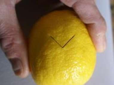 Historier un citron en dents de loup - Etape 4